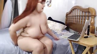 BBW MILF with big bouncing belly and tits