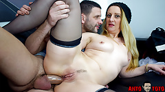French porn star Louise du Lac takes a dick in the ass