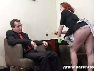Grandmas handjob Grandma catches grandpa with the maid