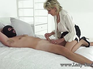 Ghr hetero handjob fan club British sonia lets one of her big fans fuck her milf pussy