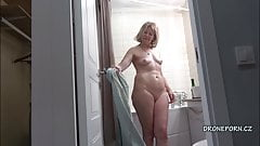 Blonde MILF Cindy - Hidden spy cam