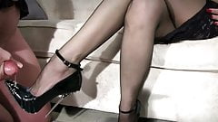 Heels domination and cum on shoes