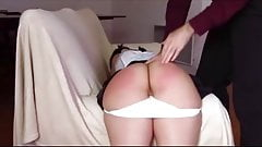 Cute girl Spanked and Toyed