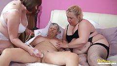 OldNannY Three British Matures Lesbian Party