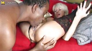 Posh mature stepmom takes big black cock