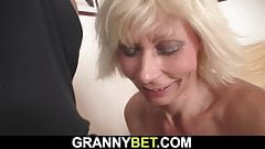 He doggy-fucks very hot blonde mature woman