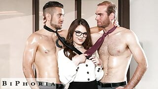 BiPhoria - Office Meeting Turns To Bisexual Threesome