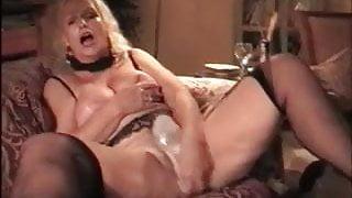 My MILF - mature granny does hot wax tit play