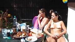 Girlfriends Together - Nudist Party Teen