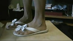 cock crush and shoejobs-Morning Meat flip flops