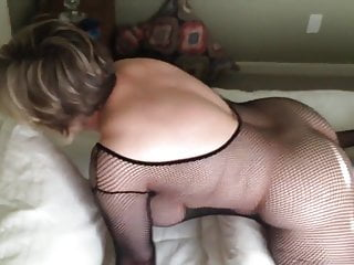 Squirtinh while orgasm Mom is cumming while wearing a black bodystocking marierocks