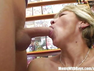 Free grandma fuck videos Grandma miluska fucking a young video store clerk