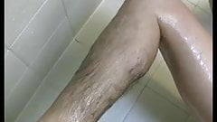 sexy texan with amazing hairy pussy,pits,tits showers