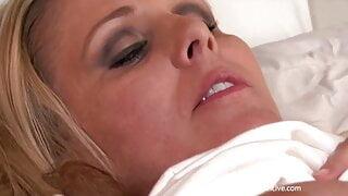 Sexy Big Boobs Cougar Julia Ann Masturbates After Waking Up!
