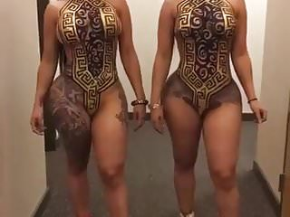 Barbie twins asses - Thick sexxxy ebony twins