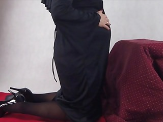 Shemale nun porn video Pregnant nun taken by surprise and fucked from behind