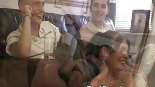 A guy joins in fucking his best friends girlfriend