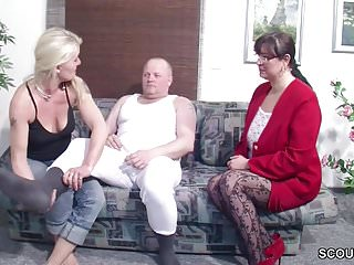 Their first threesome archivies - German husband get first threesome by wife and her friend