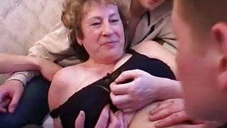 Big tit mamma's wake up gangbang.