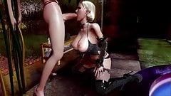 Stella and Gwen Hot Futanari Scene
