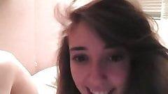 Amateur couple on webcam, facial on glasses (Camaster)