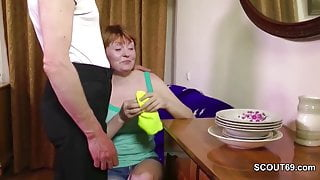 Daddy Seduce Hairy StepMom to Fuck her First time Anal