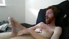 Barbudo australiano ginger oton gooner poppers por uma porca