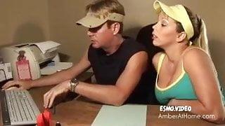 Amber Lynn Bach giving amazing handjob