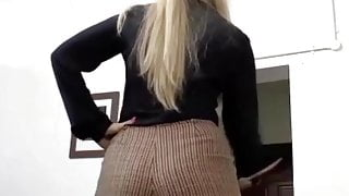 Femdom spanking with woman with big butt