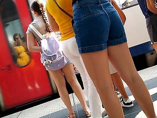 Watch ass everywhere Nice big ass everywhere on the train station shorts