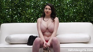 Voluptuous Alex gets into hot FFFM Foursome on Casting Couch