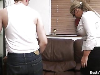 Gays in work uniforms galleries - Big tits in uniform riding him at work