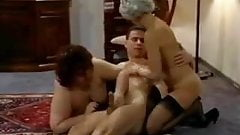 TWO BBW & SKINNY GRANNIES FUCKED BY A MAN (VINTAGE)