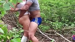 Amateur milf outdoor anal