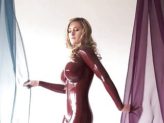 Busty latex models Latexs model with fake tits posing