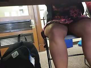 Asian upskirt picture - Thick asian upskirt under table