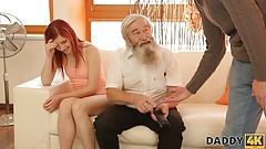 DADDY4K. Tender girl really likes to be caressed by bearded daddy