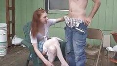 Boy or girl skinny pale redhead