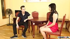 Hot MILF dominated by young boy