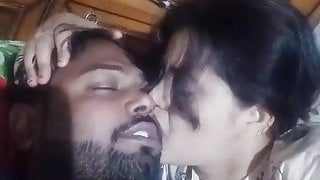 Desi couple romance and kissing