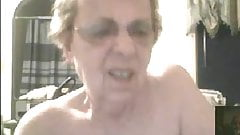 My sexy granny shows boobs in chat