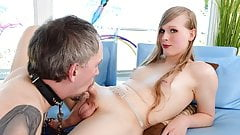 Roxxie Moth Gets Her Big Dick Serviced By Male Toy