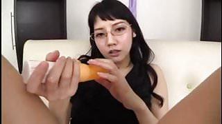 Rei Mizuna : pussy wanking & dildo