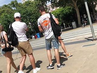 Teen america fuck year 1 Tourists exposing cheeks in america
