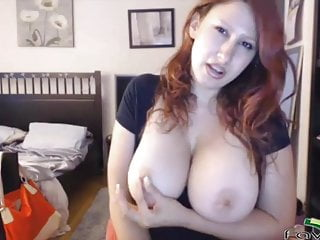 Redhead honeys Honey with bouncing breasts and round ass is ready for actio