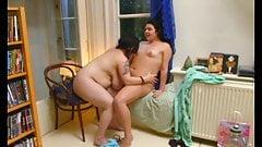 Mi novia gordita con su amiga lesbiana