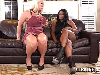 Fucked with 2 cocks at once - Alura jenson gangbanged by six black cocks at once