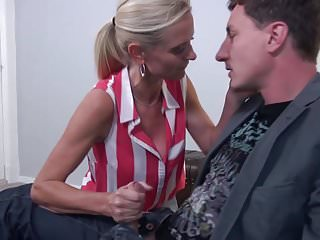 Gorgeous blonde mature - Taboo home sex with gorgeous blond mothers