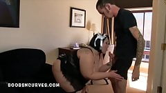 Big cock boss fucks his Big tits BBW Housemaid