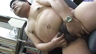 Japanese Daddy Jacking Off
